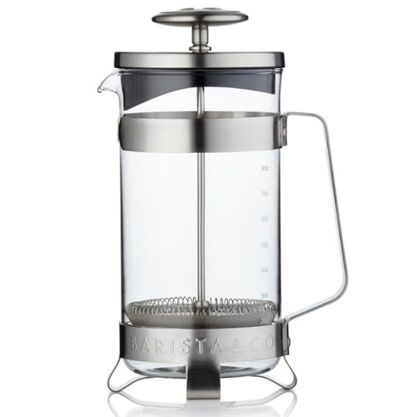 Designový French press 8Cup od BARISTA&Co Steel/nerez, 1000ml