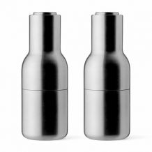 Mlýnky na sůl a pepř Bottle od Menu, set 2ks, brushed-steel