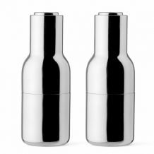 Mlýnky na sůl a pepř Bottle od Menu, set 2ks, polished steel