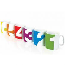 Sada hrnků SUCK UK Number Mug, 6ks | BUYDESIGN