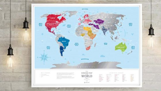 Travel map of The World Silver